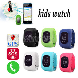 Wholesale French For Children - Best OLED Q50 Kids GPS Tracker Anti Lost Smart Watch Children SOS SIM Call GSM-Phone Location Finder Device