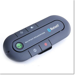 V3.0 kablosuz bluetooth el ücretsiz araç güneşlik Araç ses müzik alıcısı hoparlör iphone 7 artı samsung s8 için mic ile nereden tabletler çağrısı tedarikçiler