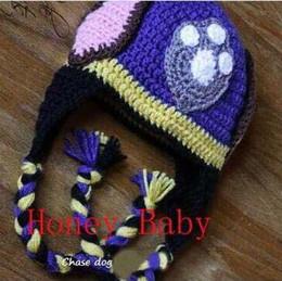 Wholesale Toddlers Animal Hats - PUPPY Crochet Hat Knitted Beanie Winter Newborn Infant Toddler Cap Children Hat Baby Boys Girls Xmas Cap Winter Cartoon Animal Hat Cotton