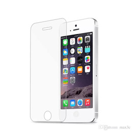 Wholesale Protective Covers For Iphone 4s - tempered glass screen protector protective guard film front case cover +clean kitsFor iphone 4s 5 5s 5c SE 6 6s plus