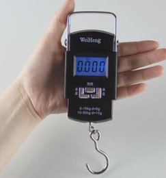 Wholesale Digital Scale Ems - by dhl or ems 50pcs electronic weighing scale digital scale 50kg 5g luggage kitchen scale portable hook balacne crane scales