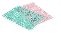 Wholesale Dinners Coaster - Hot Sale Qualited TPE Weave Placemat Bar Plate Mat Cushion Rugs Matting Sets Discount Dinner Table Coaster Knit Pad Covering Free Shipping