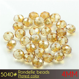 Wholesale Sport Flags For Cheap - Cheap DIY Glass Beads for Chandelier of Crystal Rondelle Beads 4mm Platedcolors A5040 150pcs set more Platedcolors