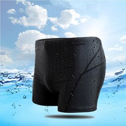 Wholesale Nylon Swim Trunks - Professional Men's Fashion Four Corners Swimming Trunks Shark Skin Waterproof Quick-drying Youth Swimming Equipment 2017 Wholesale 2528004