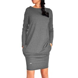 Wholesale Sexy Club Jumpers - Wholesale- Sexy Women Long Sleeve Warm Bodycon Dress Sweatshirt Party Short Mini Jumper Dresses Hot 2016 S3
