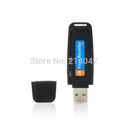Wholesale Pen Drive 32g - Wholesale-Mini Portable U-Disk Digital USB Voice Recorder Audio Dictaphone Pen Flash Drive Need TF Card , Supports Up to 32G Free shipping