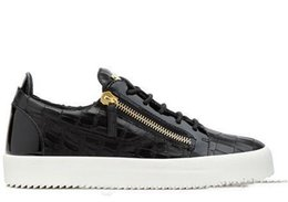 Wholesale European Size 46 - with box European Famous Zipper Lace-up Low Zapatos Hombre Kanye Luxury Shoes Mens Womens Top Casual Shoes Size 35-46