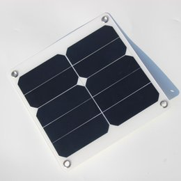 Wholesale Green Mp5 - High efficiency 10w 5v 2A Solar Panel Charger Green Portable Waterproof Design USB Port Outdoor Camping Sunpower Free Shipping