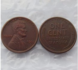 Wholesale Cheap Wholesale Accessories Free Shipping - USA 1955 Lincoln Cent, Double Die, Head Cent differ Crafts Free Shipping Promotion Cheap Factory Price nice home Accessories Coins