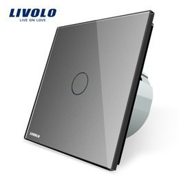 Wholesale Touch Screen Light Switches - Livolo New Type Touch Switch,Grey Color, 220~250V Touch Screen Wall Light Switch,VL-C701-15,Free Shipping