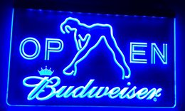 Wholesale Budweiser Led Sign - LS019-b Budweiser Exotic Dancer Stripper Bar Light Signs Decor Free Shipping Dropshipping Wholesale 6 colors to choose