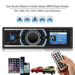 Wholesale Car Dash Kits - 4 Channel 50W Car Audio Stereo In Dash Music MP3 Player Radio FM USB SD AUX MMC Input Receiver CEC_824