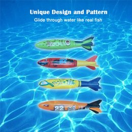 Wholesale Dove Bath - Multicolor Toypedo Bandits Underwater Dive Rocket Swimming Pool Toys Swimming Pool Toys 4pcs set