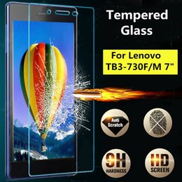 Wholesale Screen Protector For 7inch - Wholesale- 9H Tempered Glass Film Screen Protector For Lenovo Tab3 7 TB3 730F M New 7inch Tablet Clear Screen Film Protector For Lenovo