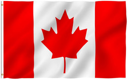 Wholesale Canadian Flags - 90x150cm Canada Flag - Vivid Color and UV Fade Resistant - 100% Polyester Canadian National Garden flags with Brass Grommets