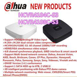 Wholesale Dahua Dvr 4ch - DAHUA 4CH 8CH Tribrid 720P-Lite Smart 1U HDCVI DVR Support 1HDD Without Logo Mini CCTV Recorder HCVR4104C-S3 HCVR4108C-S3