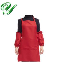 tablier à poches manches tablier de chef tabliers de cuisine cuisine serveur serveur tablier tablier de jardin en polyester uni pour femme fille ? partir de fabricateur