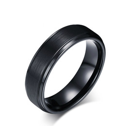 Argentina Cool Men Tungsten Carbide Rings Pure Tungsten Black Rings para hombres Jewelry 8mm Wide Men Wedding Tones de compromiso TCR-015 Suministro