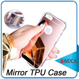 Wholesale Iphone5 Cases Black Silicone - Fashion Mirror TPU Electroplating Soft Silicone Celular For Apple iPhone5 6 6plus 7 7plus Protector Shell Cover Case