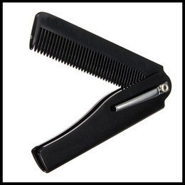 Wholesale- New Style 1pcs Hair Beauty Folding Moustache & Beard Comb Hand Made Tools For Men Women от