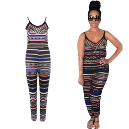 Wholesale Wholesale Plus Size Jumpsuits - Wholesale- Women Sexy Jumpsuit Backless African Playsuit Bodycon Romper Trousers Plus Size 3XL