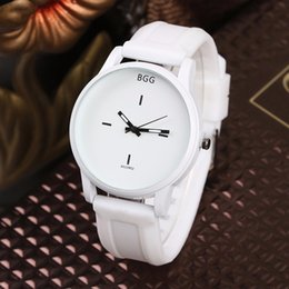 Wholesale Lover Watches Sale - Hot Sale Fashion Big Dial Wrist Watches 2016 New Design Creative Quartz Watch Men Women Lover Clock With Silicone Strap White