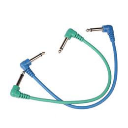 Argentina Juego de 6 piezas de cables de parche para guitarra coloridos en ángulo para pedales de efectos de guitarra ARE4 Suministro