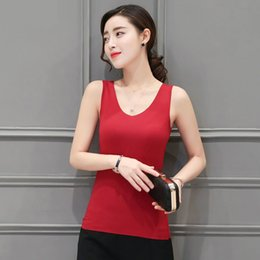 Wholesale White Blouse Xs - Womens Summer Tank Tops Ladies Blouses Sleeveless Solid Color V O Neck Casual Debardeur T Shirt Vest Sexy Tops Camisole 3BX004