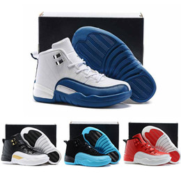 Wholesale Arrival Children Shoes - New Arrival Kids Sport Shoes Retro 12 Basketball Shoes Boys Girls Athletic Shoes Children Sports Sneakers Toddlers Birthday Gift For Sale