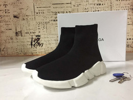 Wholesale Plastic Mesh Cloth - 2017 2018 High Quality Unisex Casual Shoes Flat Fashion Socks Boots Woman New Slip-on Elastic Cloth Speed Trainer Runner Man Shoes Outdoors