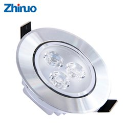 Wholesale 3w Celling Led Light - Wholesale- LED Downlight 3W Spot Recessed Celling Lamp Light Home Lighting For Living Room Kitchen Bathroom Free Shipping