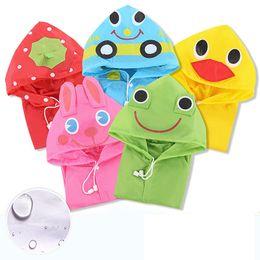 Wholesale Children Rainwear - New Multi Color Poncho Kids Cartoon Raincoat Hooded Children Waterproof Rainwear for Age 3-8Year ( Kids 90cm-130cm)