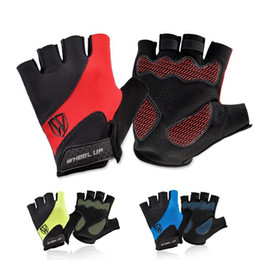 Wholesale Mens Sports Gloves - 2017 Cycling Gloves Half Finger Mens Women's Summer Bicycle Gloves Guantes Ciclismo MTB Mountain Sports Bike Gloves Mittens