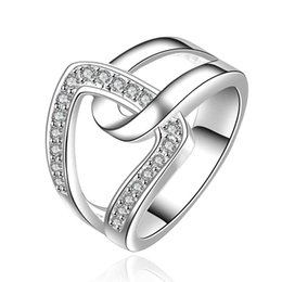 Wholesale Hot Lose Money Promotion - Wholesale- 2017 Hot sell Lose Money Promotions! Wholesale silver plated ring fashion jewelry, hand in hand qua Ring SMTR634