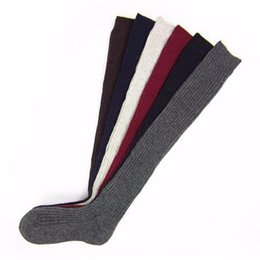 Wholesale Wholesale Cable Knit Boot Socks - Wholesale- Over knee Long Boot Thigh High Warm Stockings Ladies Women Stockings Winter Soft Cable Knit