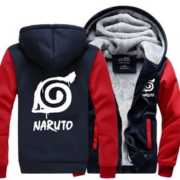 Wholesale Uchiha Hoodie - Fashion Naruto Jacket Winter Luminous Coat Anime Uchiha Sasuke Cosplay Coat Uzumaki Naruto Hoodie Sweatshirt For Big Boys Kids
