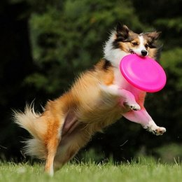 Wholesale Throwing Flying Toys - Pet Toys for Dogs Dog Frisbee Multi Colors Soft Toys Throwing Safe Non-Toxic Perfect For Pets Outdoor Playing Training