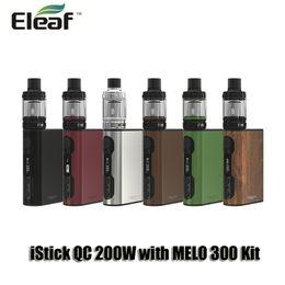 Wholesale Metal Banks - 100% Orignal Eleaf iStick QC 200W With MELO 300 Kits 5000mAh VW TC Power Bank Battery Mod 3.5ml Top Filling Tank