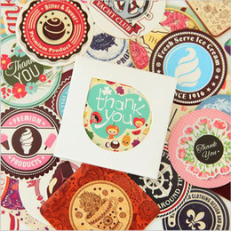 Wholesale Collage Children - Wholesale- 38pcs = 1 Box   Children Cartoon Mini Paper Stickers Stickers Decorative Diy Collage Stationery (10 Optional)