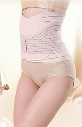 Wholesale Belly Band Shapewear - Hot Sell Woman Postpartum Recovery Belt C-Section Girdle Tummy Band Slim Slimming Waist Belly Band Shapewear Q0496