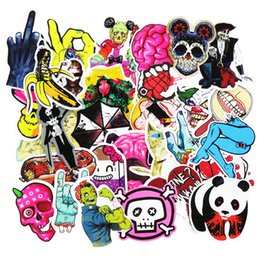 Wholesale Wholesale Sticker Sales - Hot Sale 50 Pcs Horror Nausea Bloody Car Stickers for Luggage Laptop Car Waterproof Sticker Handbag Decoration DIY Decals Not Repeat
