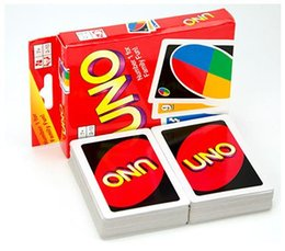 Wholesale Fun Entertainment - Stock ready 50 Sets UNO poker card standard edition family fun entertainment board game Kids funny Puzzle game By DHL 1908