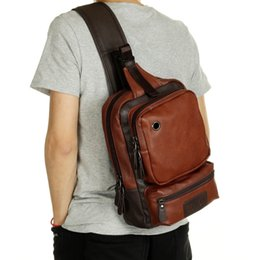 Wholesale Big Bags Men - Wholesale- New Fashion Men Messenger Bags Casual Mens Leather Chest Bags Big Chest Back Pack Male Shoulder Bag Travel Bags PT1123