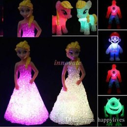 Wholesale Led Table Party - Night Lamp Colorful Led Changing Night Light Table Lamp Decor Kids Toys Doll Toy Kids GiftA