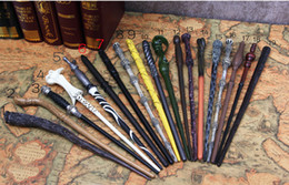 Wholesale Wholesale Harry Potter Wands - 18 Styles Cosplay Harry Potter magic wand Dumbledore magical wand wizarding world of harry potter Hogwarts Magic with a Gift Box