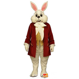 Wholesale Red Rabbit Costume - OISK customized Mr. Rabbit mascot costume Miffy rabbit Easter Mascot Outfits Adult Size Suit Halloween Christmas Party fancy dress