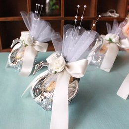 Wholesale Wedding Sweetbox - Acrylic Silver Swan Sweet Love Wedding Gift Jewely Candy Favor Sweetbox Candy Package New Novelty Wedding Favors holders High Quality