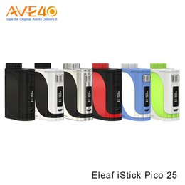 Wholesale Pico Battery - Authentic Eleaf iStick Pico 25 Box Mod 85W with 2ml ELLO Atomizer Powered By Single 18650 Battery VS iJust s