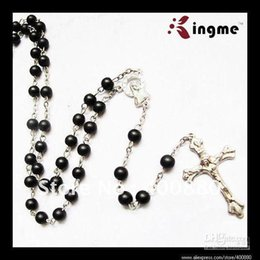 Wholesale 6mm Round Glass Beads Wholesale - HOT SALE! 6mm Black Color Glass Round Beads Catholic Rosary