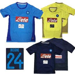 Wholesale Mens Soccer Shirts - 2017 Napoli Soccer Jersey Mens HAMSIK GABBIADINI MERTENS MILIK INSIGNE CALLEJON Allan Zielinski Naples Customize Football Shirt 17 18